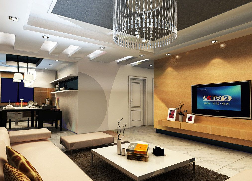 The television integrates into this stylish room - Designing ...