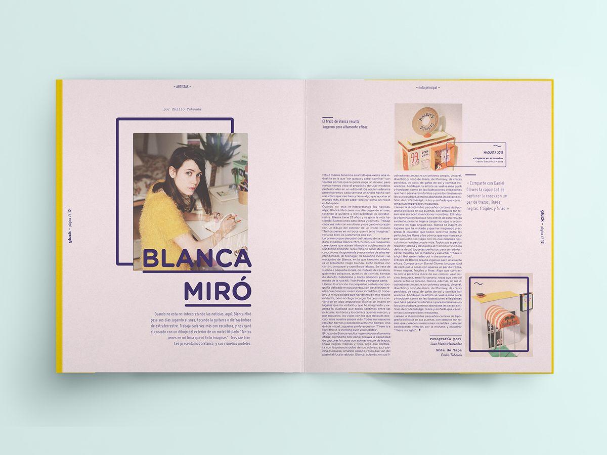Revista Gluck on Editorial Design Served