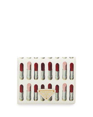 a1a7b04f102f29 Prada Saffiano Printed French Wallet | Products | Prada saffiano ...