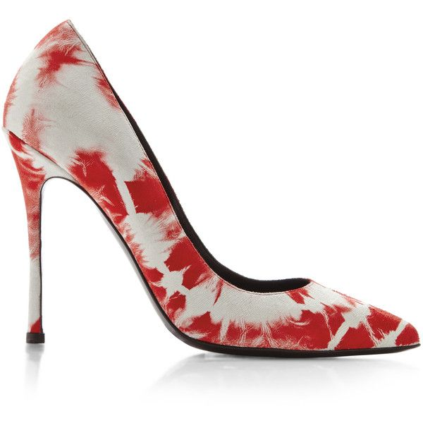 Elyse Walker Sable Tye Dye Satik Pump In Red Featuring Polyvore Fashion Shoes Pumps Tie