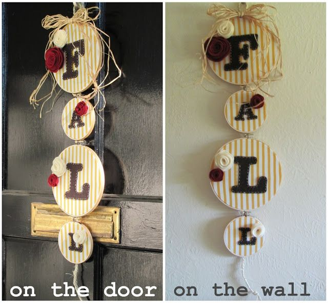 The Lung Family: Tuesday Tutorial: Fall Themed Door Hanging