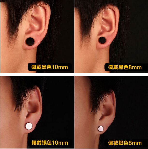 dhgate black earring product from com zirconia cz stud cubic studs mm earrings mens
