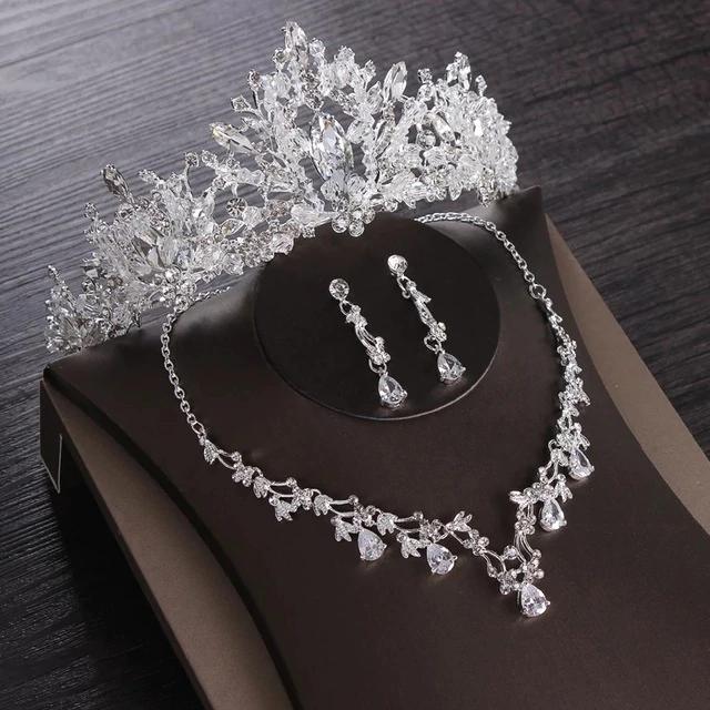 Sweet heart charms Zircon Cubique Zircon Collier//Boucle d/'oreille Bijoux Mariage Bridal set