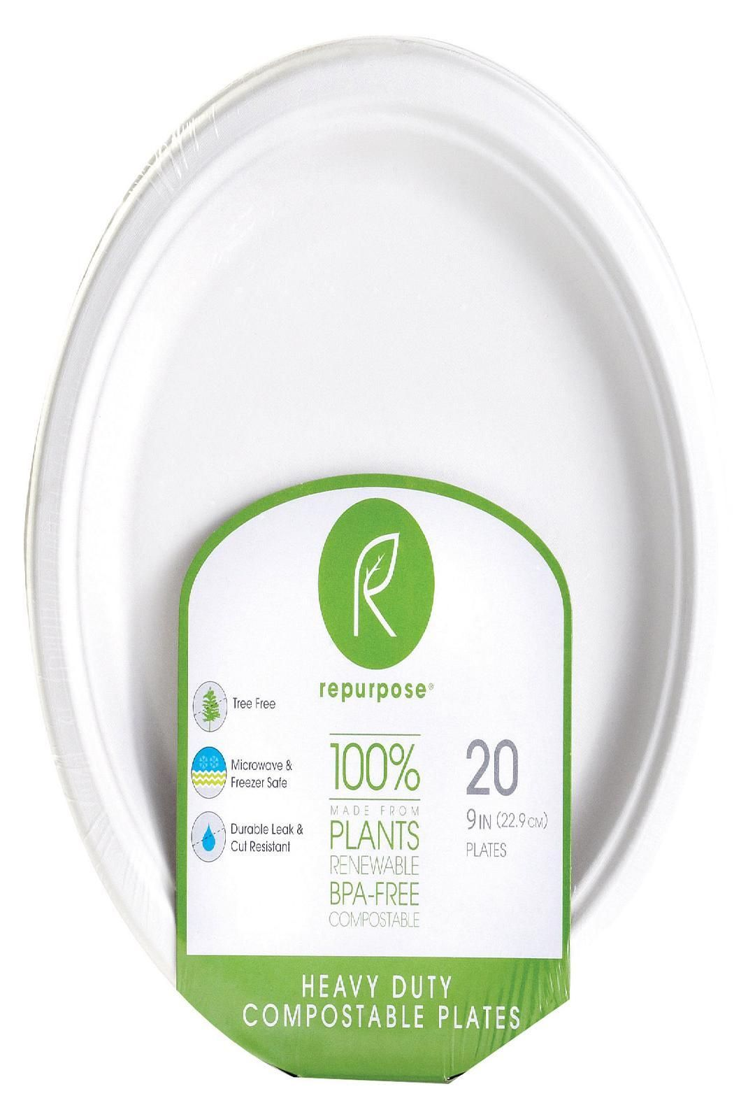 Biodegradable 500 Compostable Plates 7 Inch: Heavy Duty Microwave and Freezer Safe Ecofriendly Disposable Dessert Plates Tree and Plastic Free Alternative to Small Paper Plates