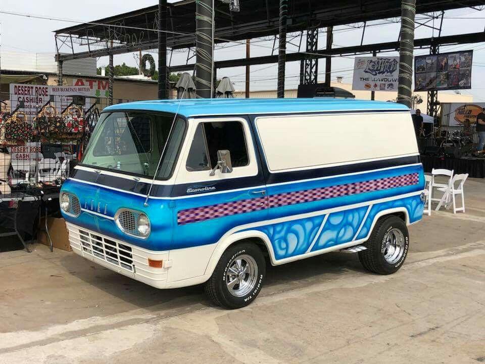60s Ford Econoline Custom Van Custom Vans Ford Van Vintage Vans