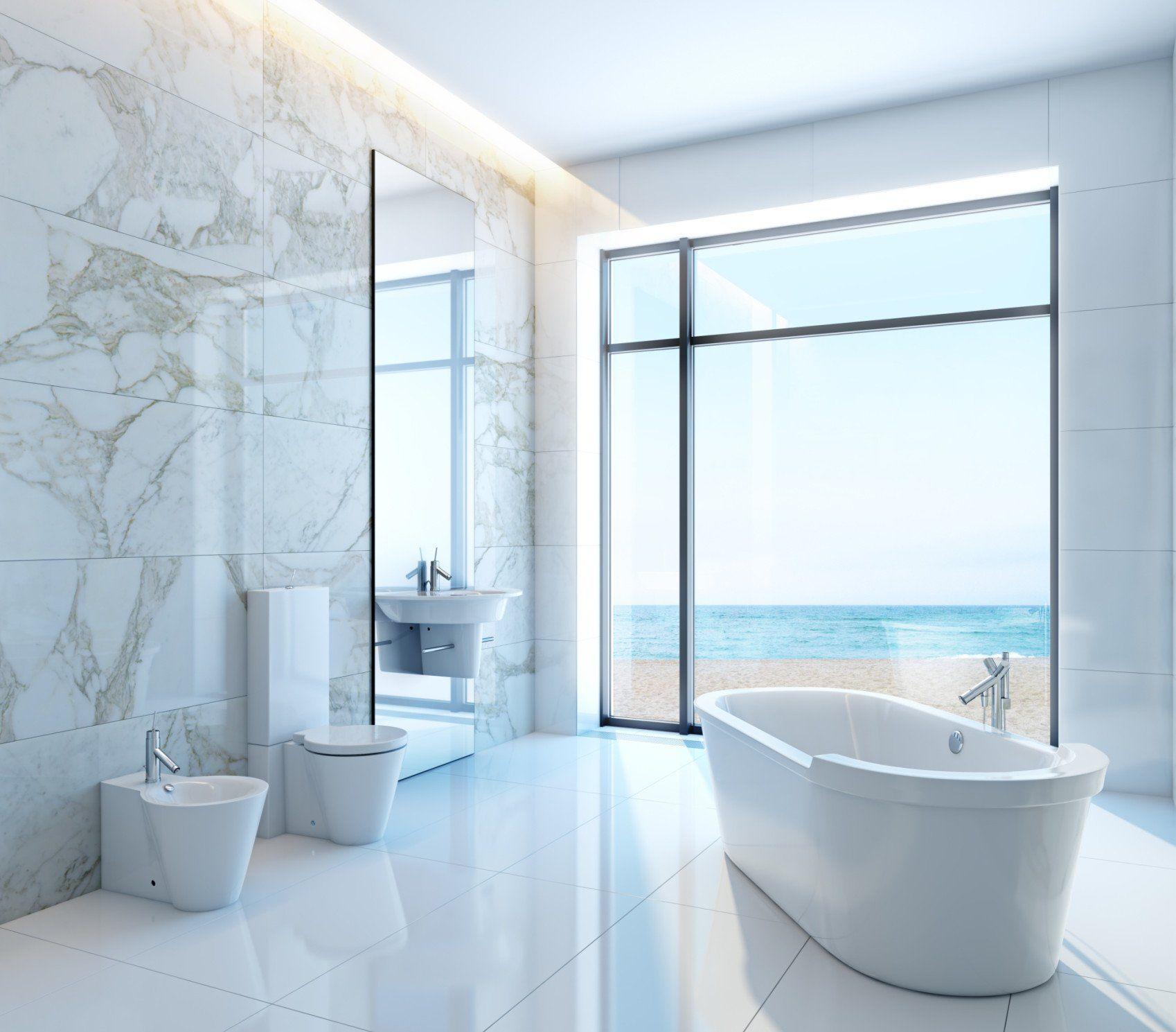 Moderne Badezimmer In Weiss Badezimmer Modernes Badezimmer Strandhaus Badezimmer