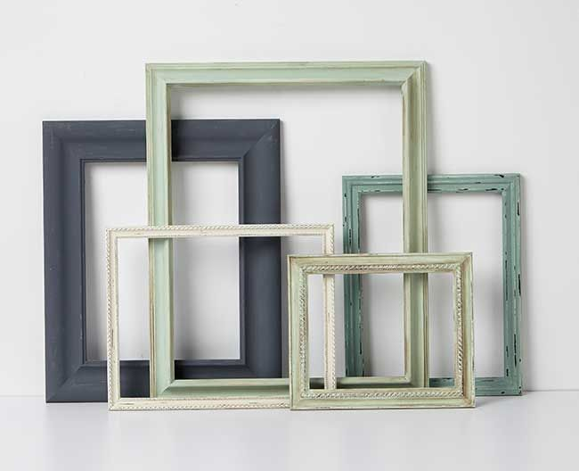 Craft Painting - Vintage Frames in Martha Stewart Paint. Love this ...