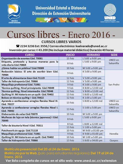 Pin En Cursos Libres Uned Costa Rica