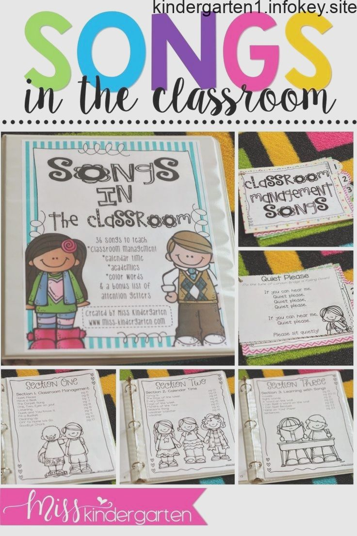 Songs in the Kindergarten Classroom Classroom songs