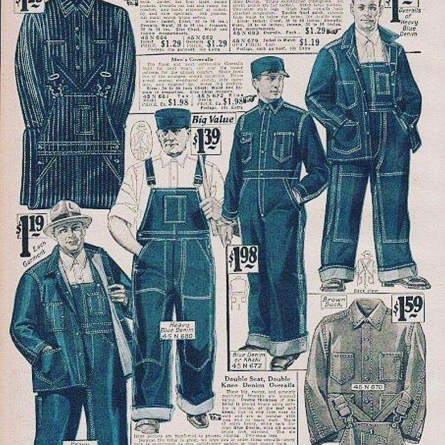 Mulpix A Brief Insight Into The History Of Denim When Denim Was Purely Practical Workwear Denim Overalls Vintage Th Work Wear Faded Denim Vintage Men