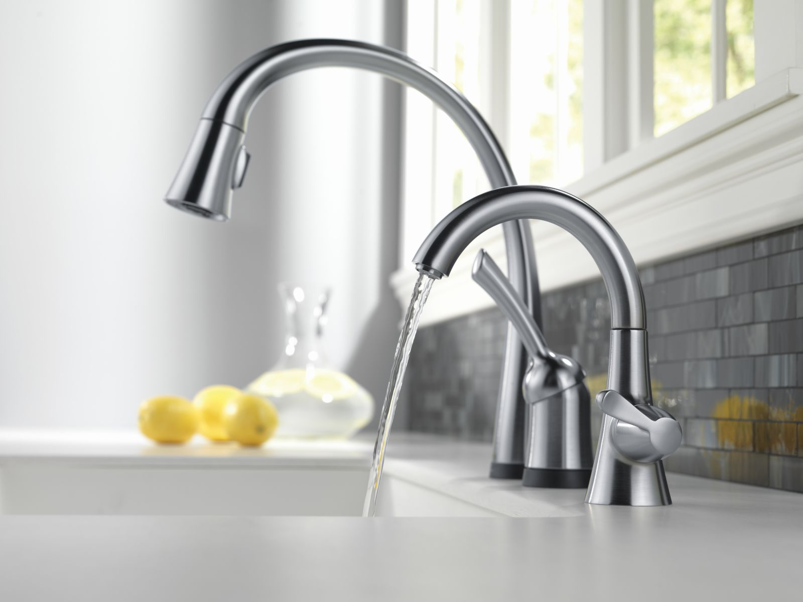 Our Transitional Beverage Faucet Is The Perfect Addition To Your Smart Kitchen Sink Delta Faucet Beverage Faucets Delta Faucets Faucet