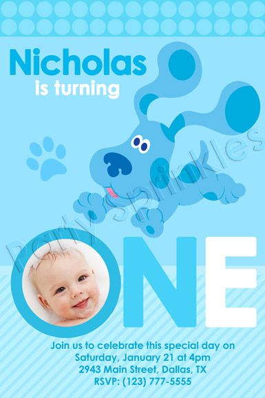 Blues clues birthday party a1 blues clues birthday party blues clues birthday party a1 blues clues birthday party invitation 1st birthday sampleg stopboris