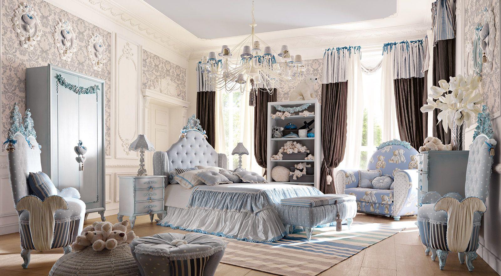Altamoda Italia Collezione Vip Art Classic Kids Furniture Luxury House Designs Furniture Classic bedroom for children