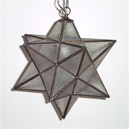 Superior Moravian Star Hanging Light - Damp Location---for front ...
