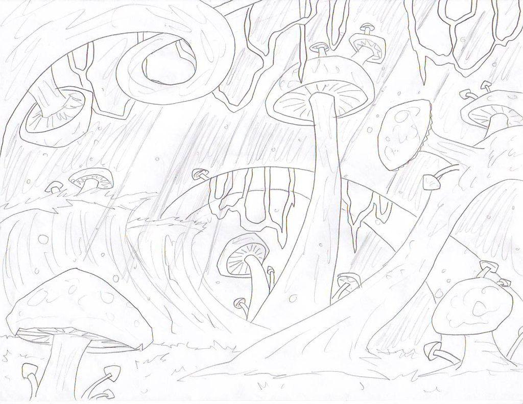 предметы сказочный лес рисунки карандашом этом
