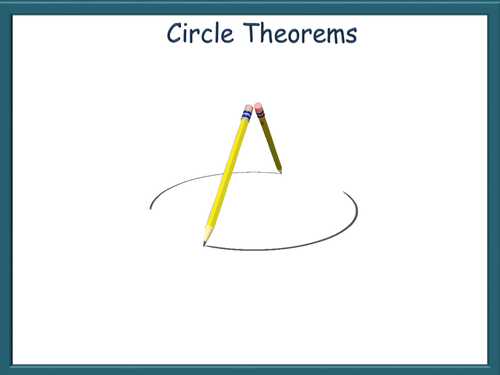 Circle Theorems Animated Powerpoint Gcse Math Resources Math