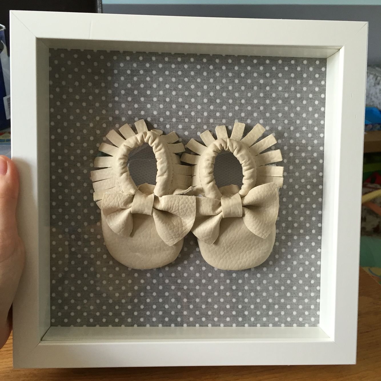 Baby\'s first shoes display box | Shoe display, Ikea hackers and ...