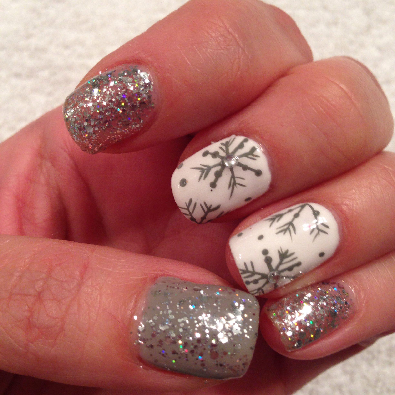 Winter Gel Nails Holiday Nails Winter Gel Nails Cute Gel Nails