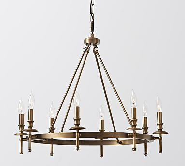 Collins chandelier aged brass chandeliers lights and living collins chandelier aged brass aloadofball Choice Image