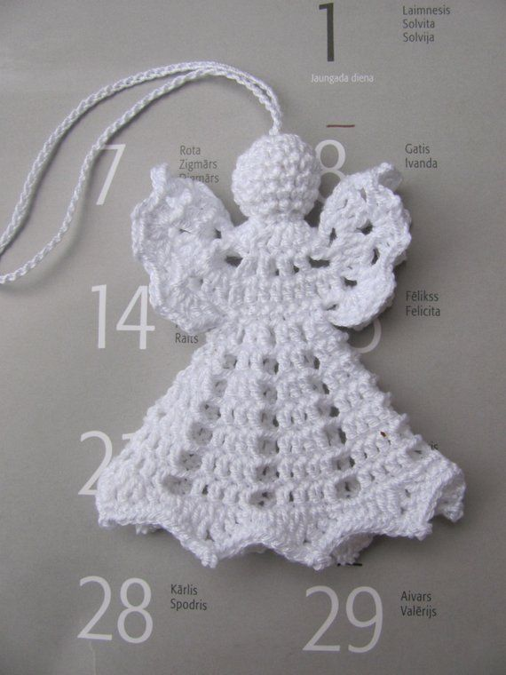 Crochet angel Christmas decoration A17 en 2018 | Products | Pinterest