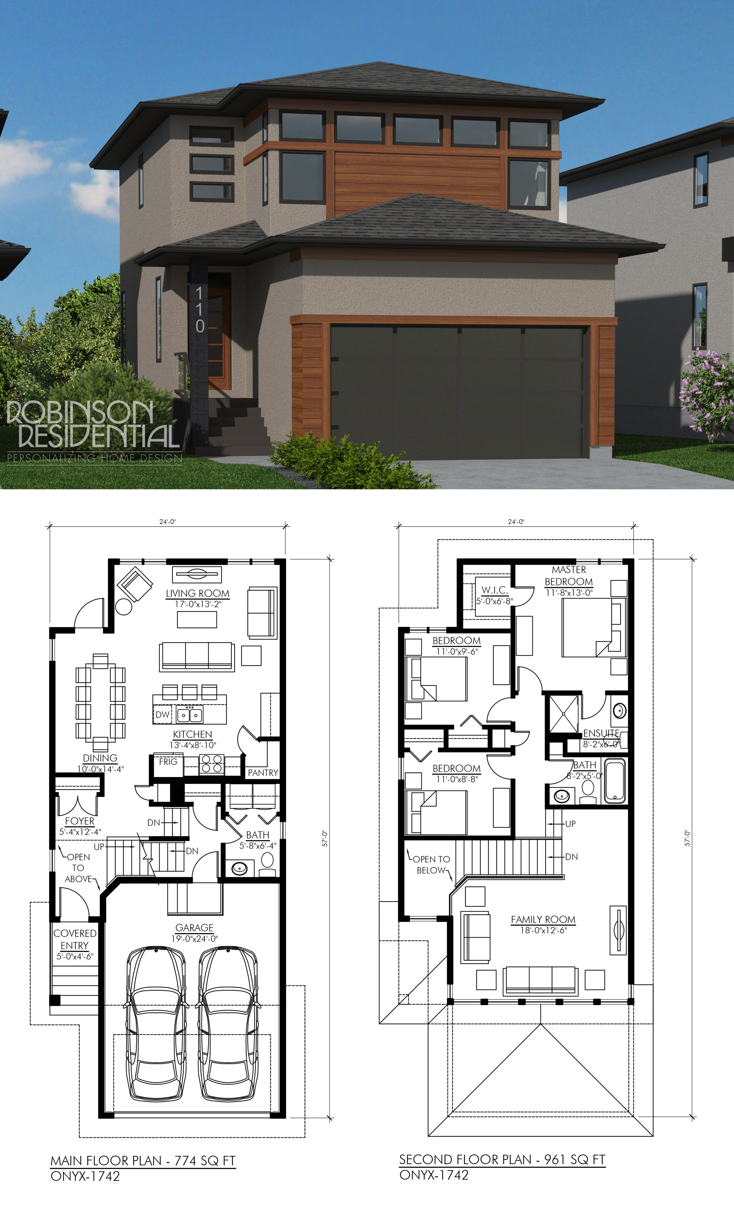 Contemporary Onyx 1735 Robinson Plans Modern House Plans House Plans Online Contemporary House Plans