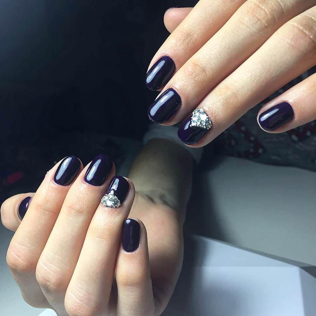 Stones-Dark Blue Nail Design | Nail Design - COLOR | Pinterest ...