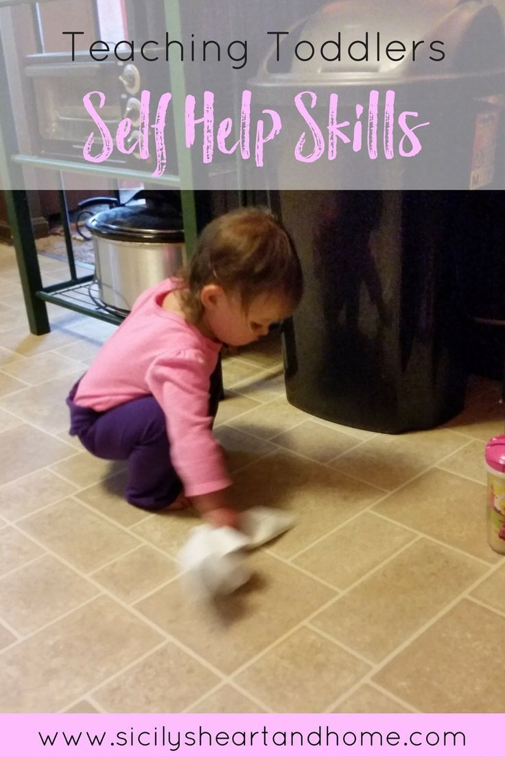 Teaching Toddlers Self Help Skills