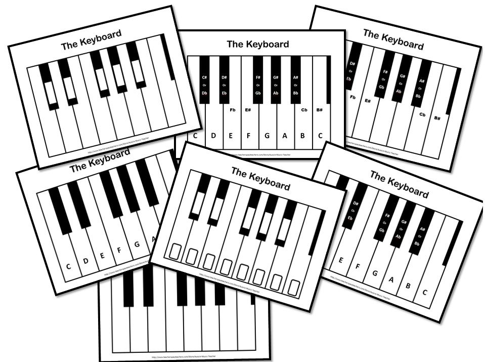 FREE DOWNLOAD for the music classroom! Seven Keyboard Diagrams. Very ...