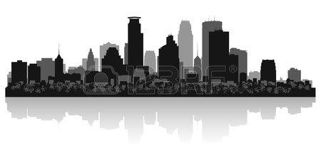 Minneapolis USA city skyline silhouette vector