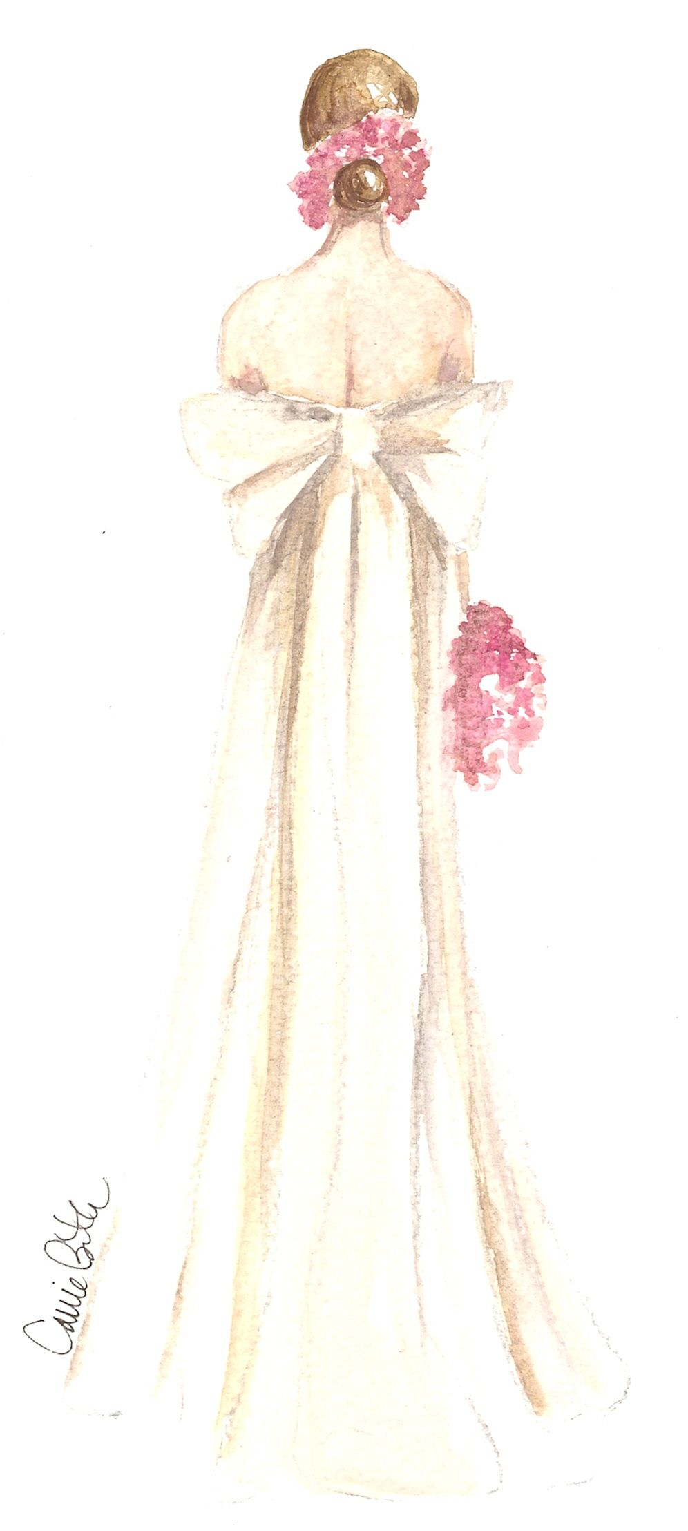 Illustrator carrie beth taylor fashion sketchesbridal pinterest