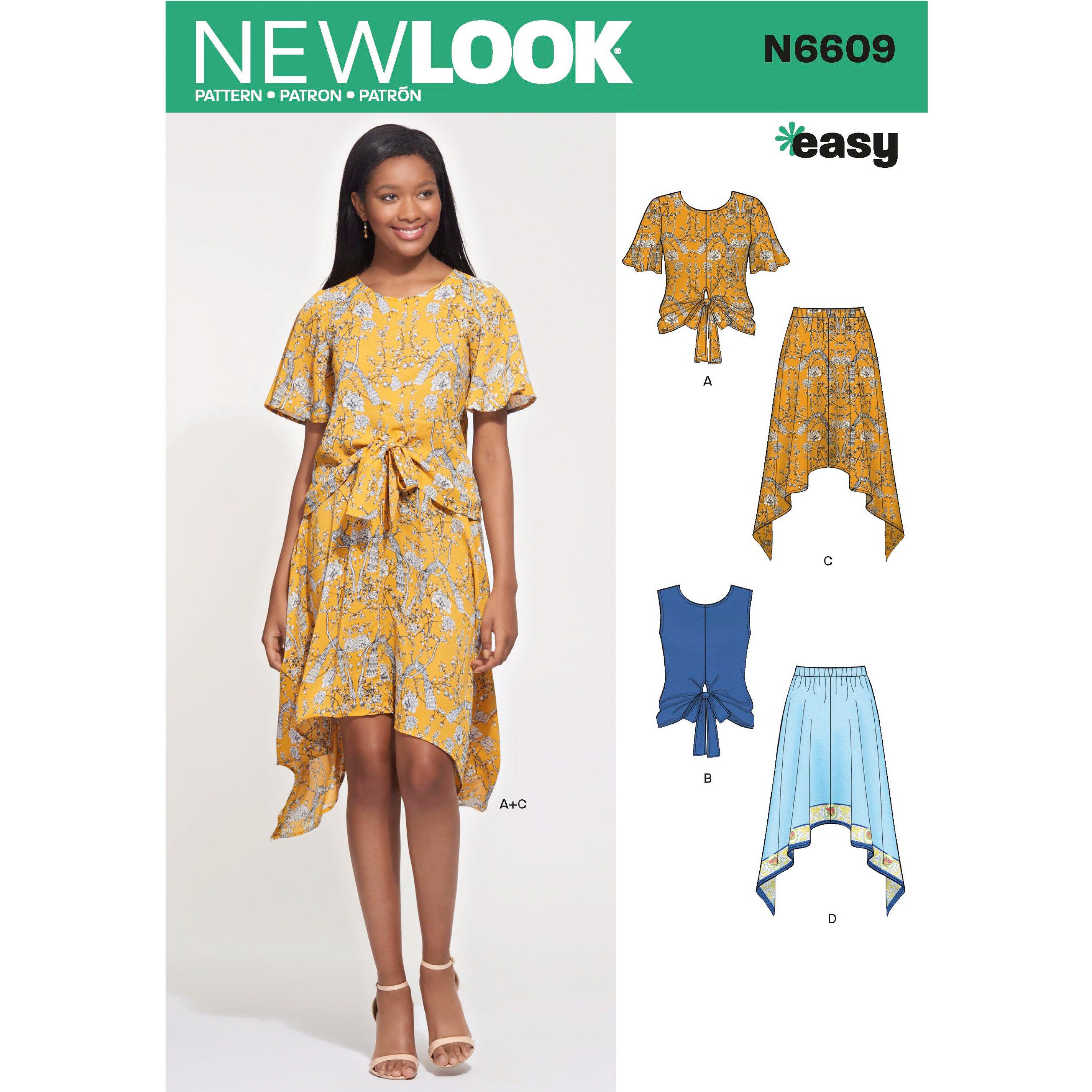 ae29923566a New Look Sewing Pattern N6609 Misses  2-Piece Dress