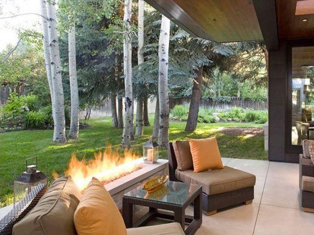 20 Stunning Outdoor Fireplaces | Bridgman Furniture | jardin | Pinterest