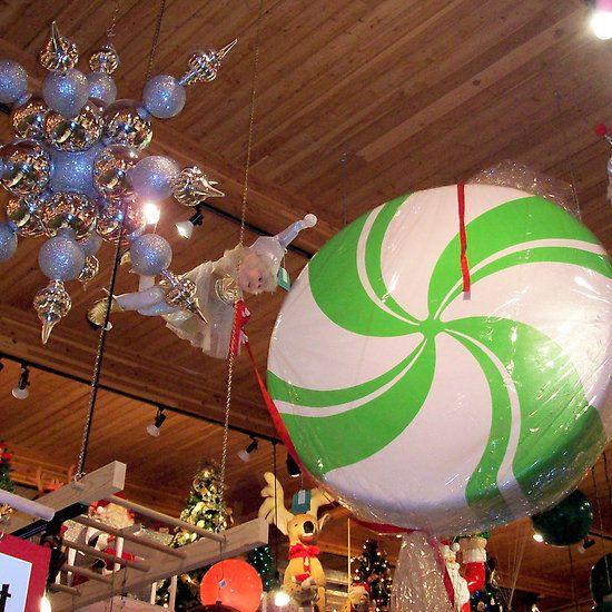 Bronner\u0027s - Christmas Ornaments - A display of huge Christmas