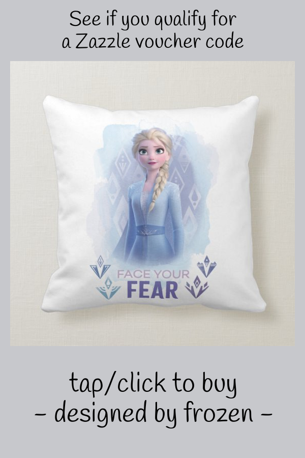 Frozen 2: Elsa | Face Your Fear Throw Pillow #disney #frozen #2 #animation #kids #ThrowPillow
