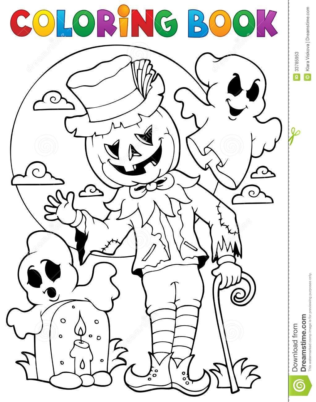 Carácter 9 De Halloween Del Libro De Colorear - Descarga De Over 48 ...