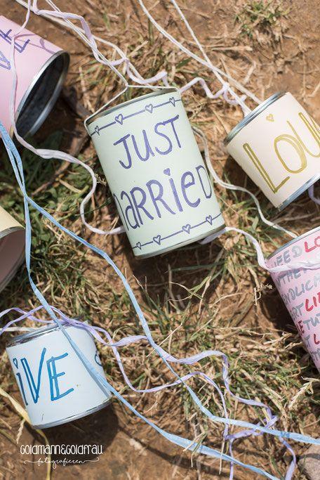 Dosen Auto Hochzeit WeddingCans  luz  Pinterest