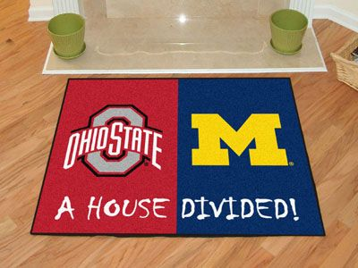 Ohio State Michigan House Divided Mat House Divided Ohio State Michigan Synthetic Area Rugs