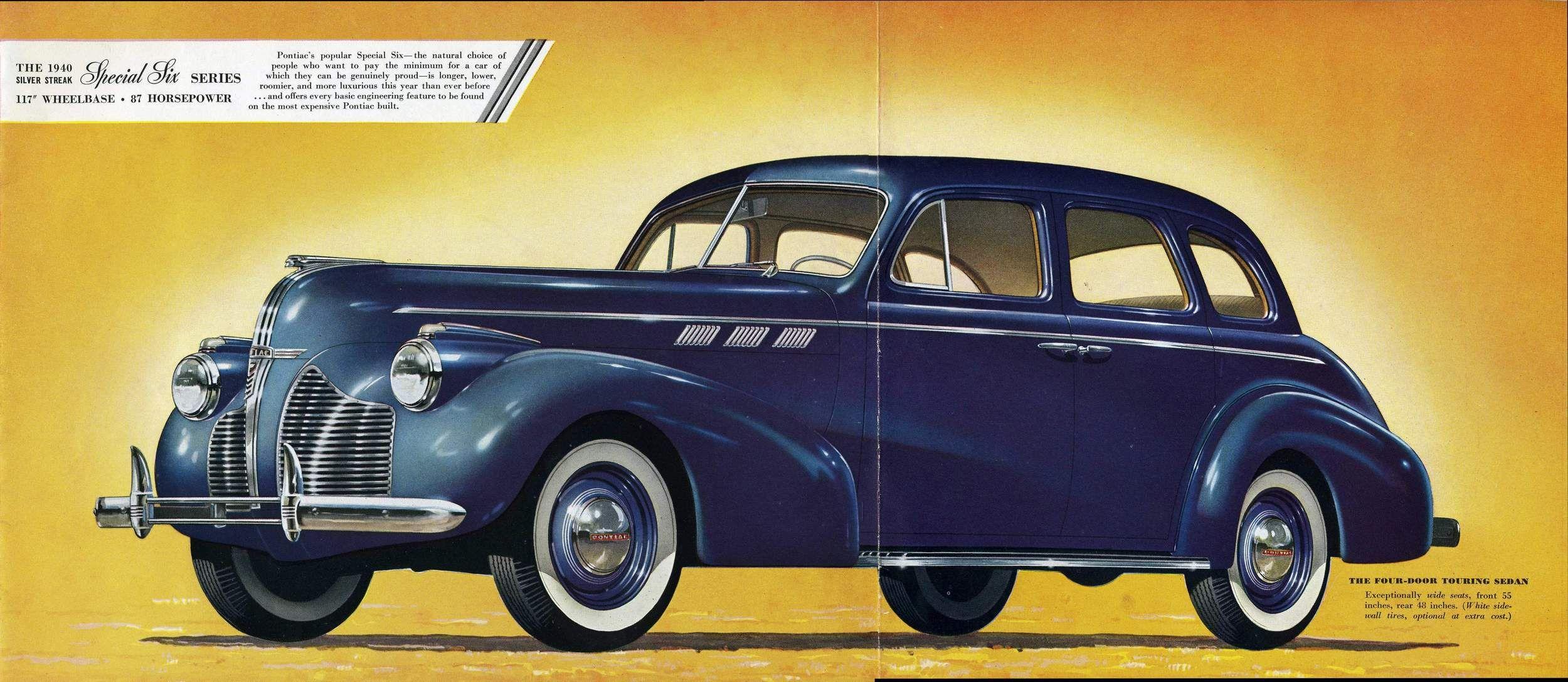 1940 Pontiac Special Six Four Door Touring Sedan Pontiac Car