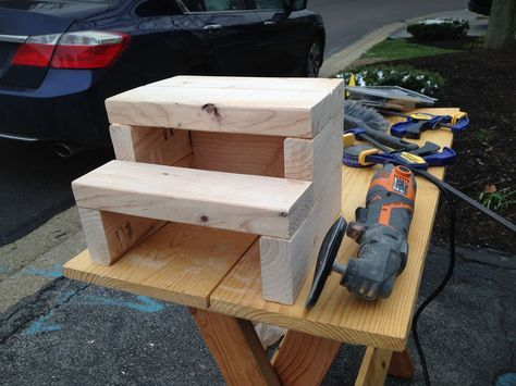 The Heart Comes Home Step Stool made with ONE 2x4 So easy