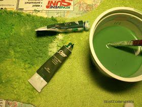 minttumeiramin miniatyyrit: Puutarhassa vihertää ruoho - Green, green grass