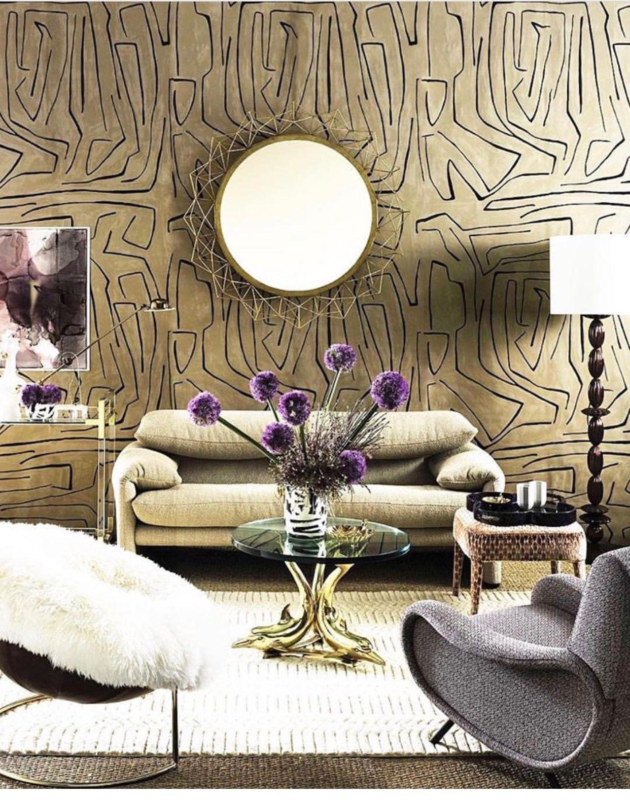 Graffito wallpaper Kelly wearstler wallpaper, Luxury