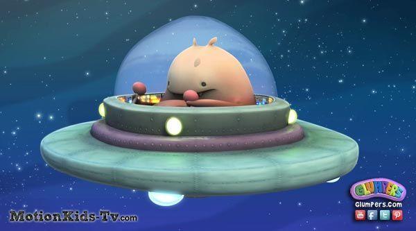 Fubble en su OVNI - Imagenes de los Glumpers - Glumpers cartoon pictures