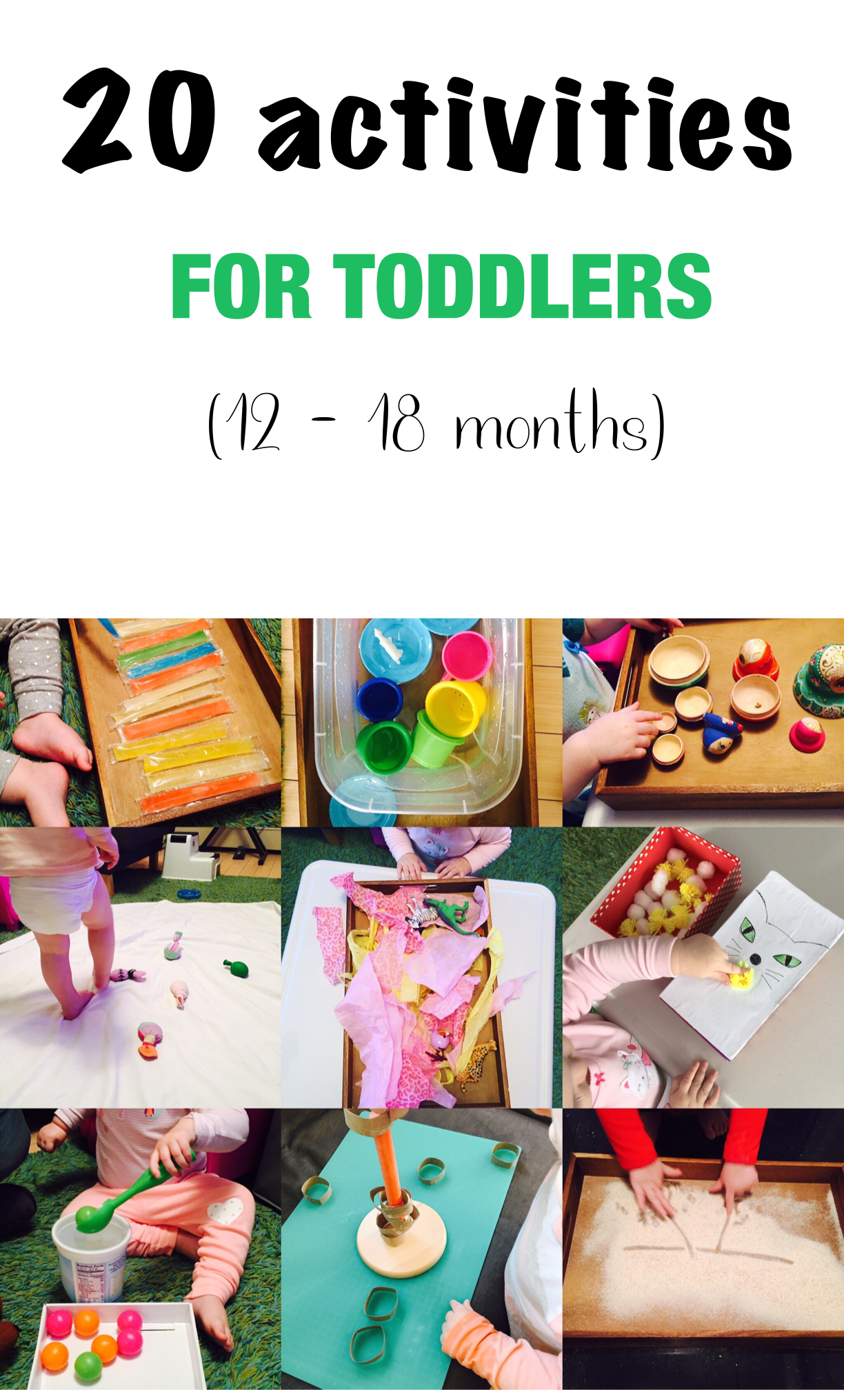 20 Activities For 12 18 Months Old
