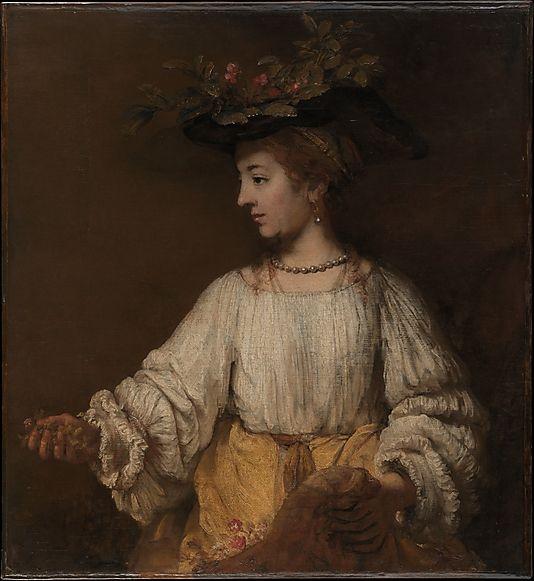 Flora Rembrandt (Rembrandt van Rijn)  (Dutch, Leiden 1606–1669 Amsterdam) Date: ca. 1654 Medium: Oil on canvas