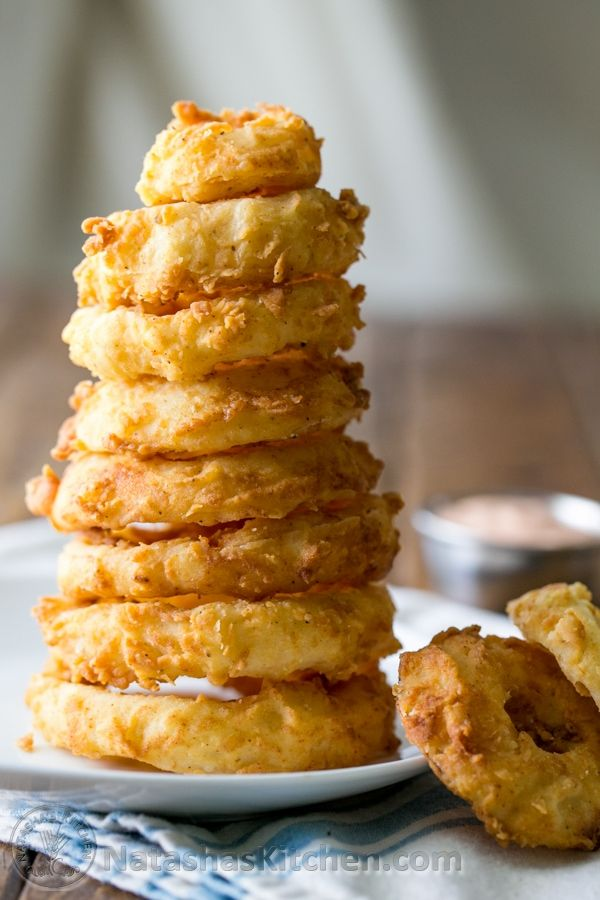 Crisp Onion Rings Recipe, fried onion rings, easy onion rings