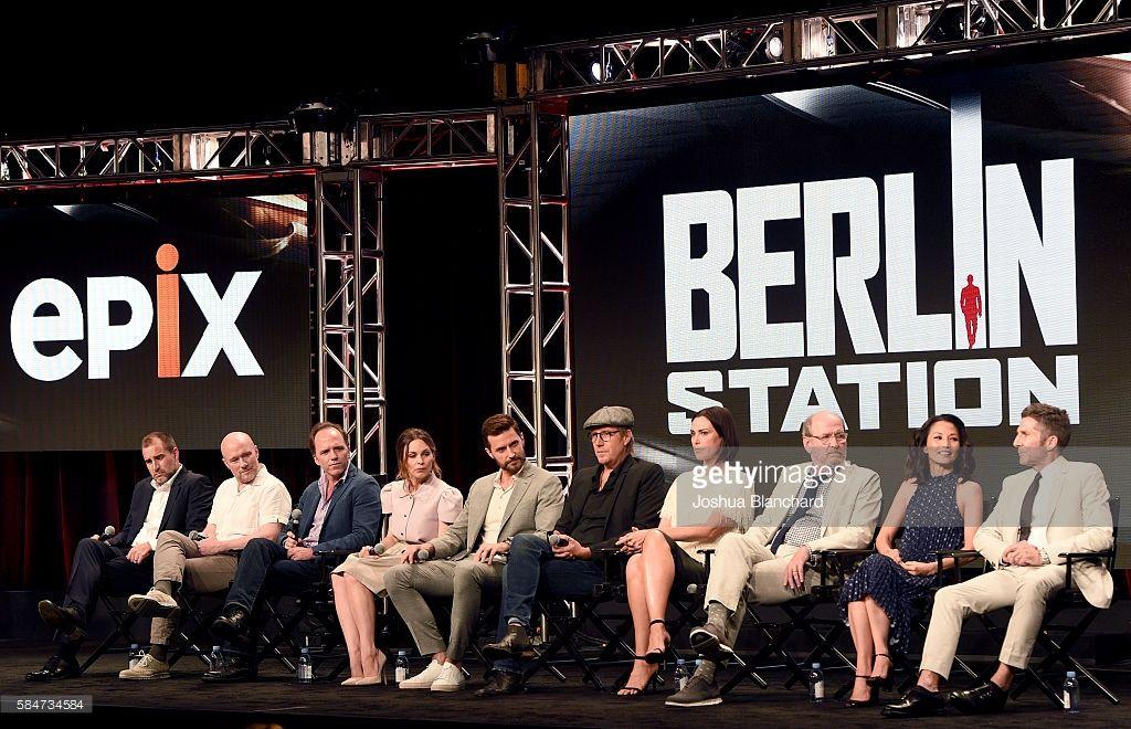 Executive producer Keith Redmon, creator/executive producer Olen Steinhauer, showrunner/executive producer Bradford Winters, actress Mina Tander, actor Richard…