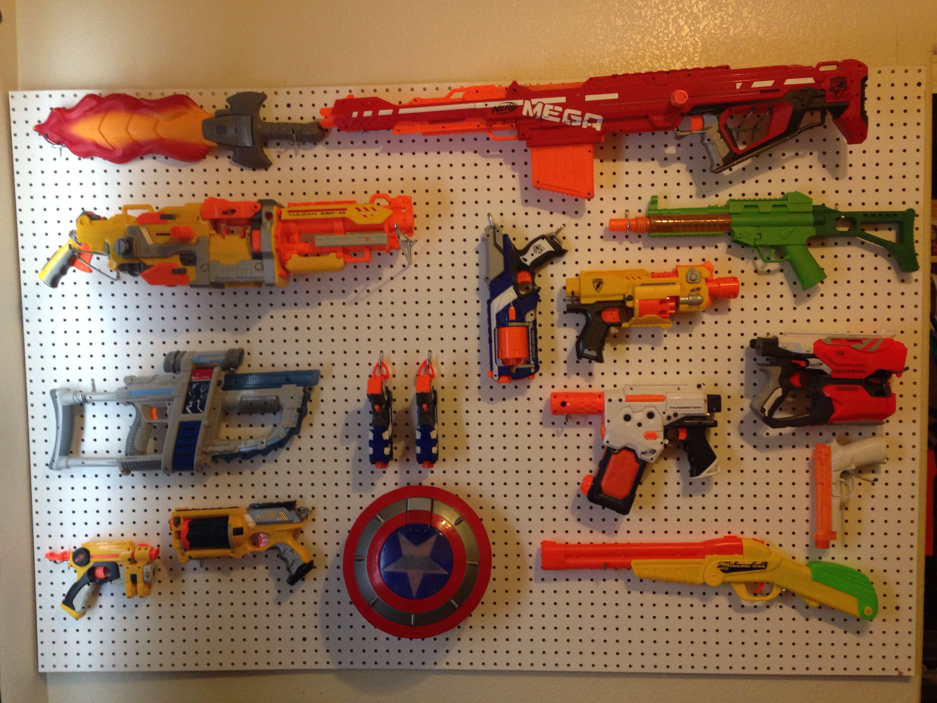 Super Cool Nerf Gun Display My Husband Put Up In Our Son S