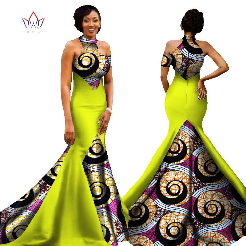 2017 african women long dresses dew shoulders women formal for African dress styles for weddings
