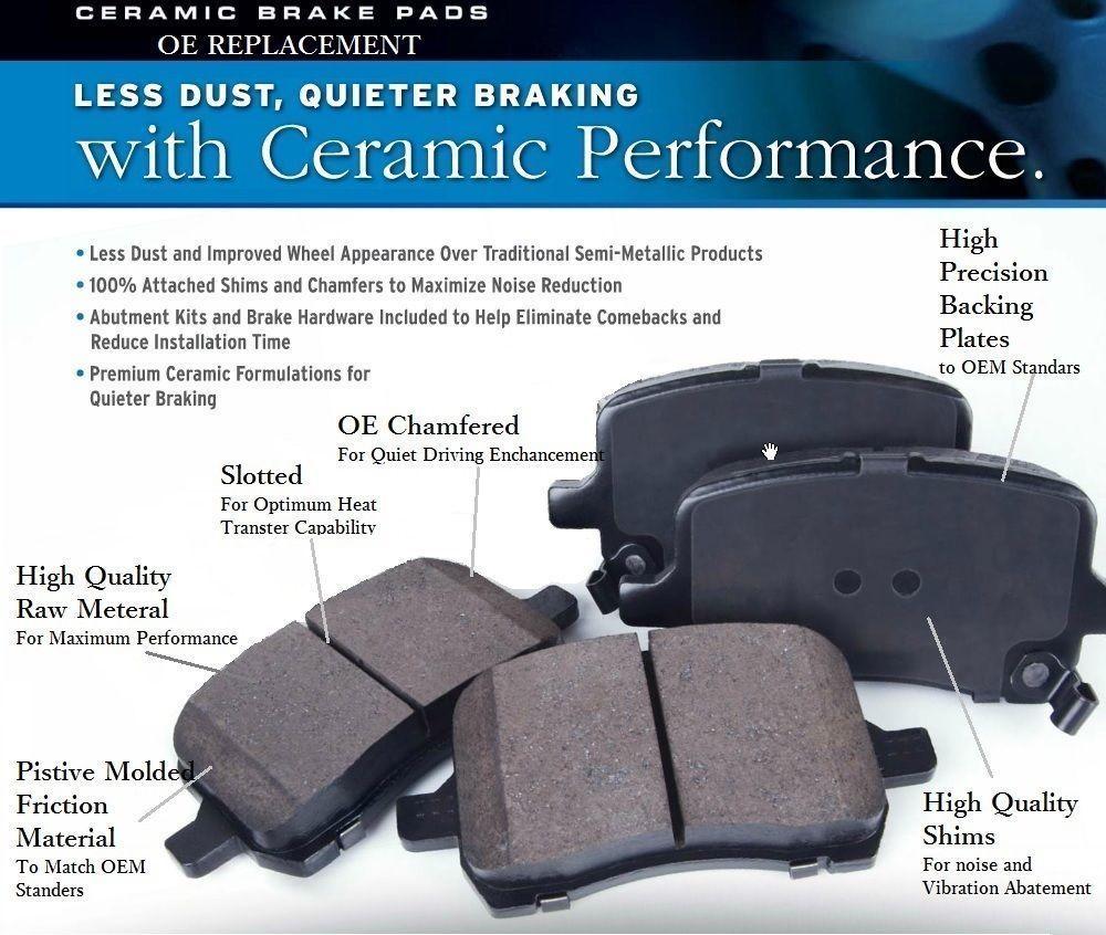 New Set of Rear Premium Ceramic Brake Pads fits Audi VW Alfa Romeo
