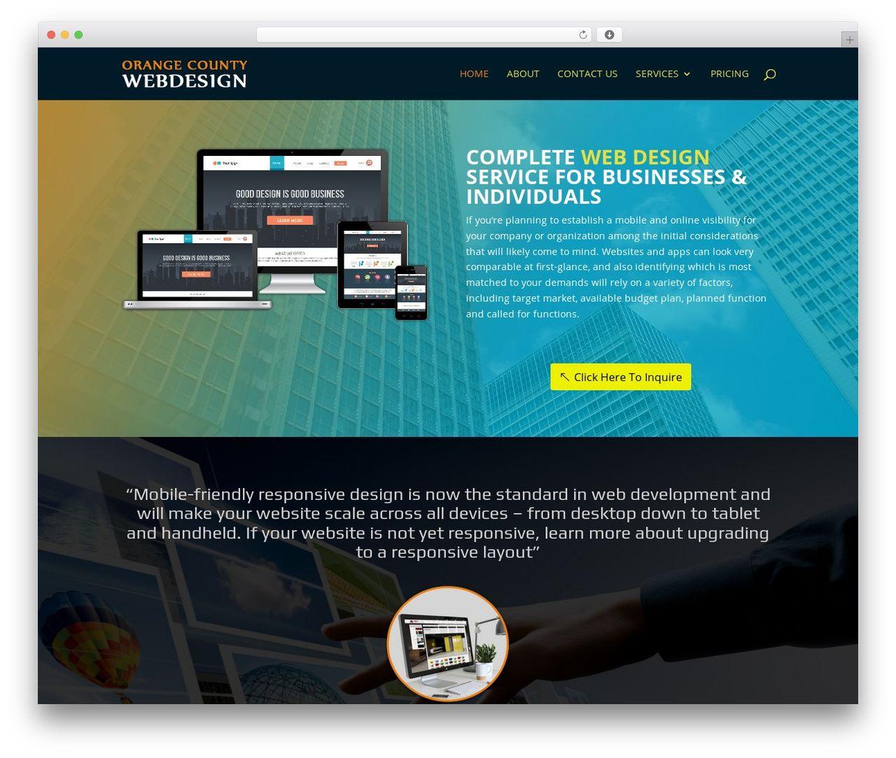 WordPress website template Divi - webdesign-orangecounty.net